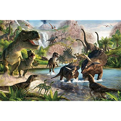 "Wood Jigsaw Puzzles 1000 Pieces for Adults Kids 3020"",Dinosaur Image Every Piece is Made of Basswood, Fit Together Perfectly: Toys & Games"