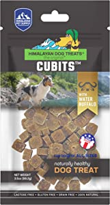Himalayan Pet Supply Cubits with Water Buffalo | Natural Training Treat | Gluten - Lactose - Grain Free | 3.5 oz per Pouch