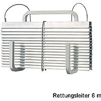 FlammEX Rettungsleiter FPL 8 m ohne Abstandshalter, 1 Stück, aluminium, 4306