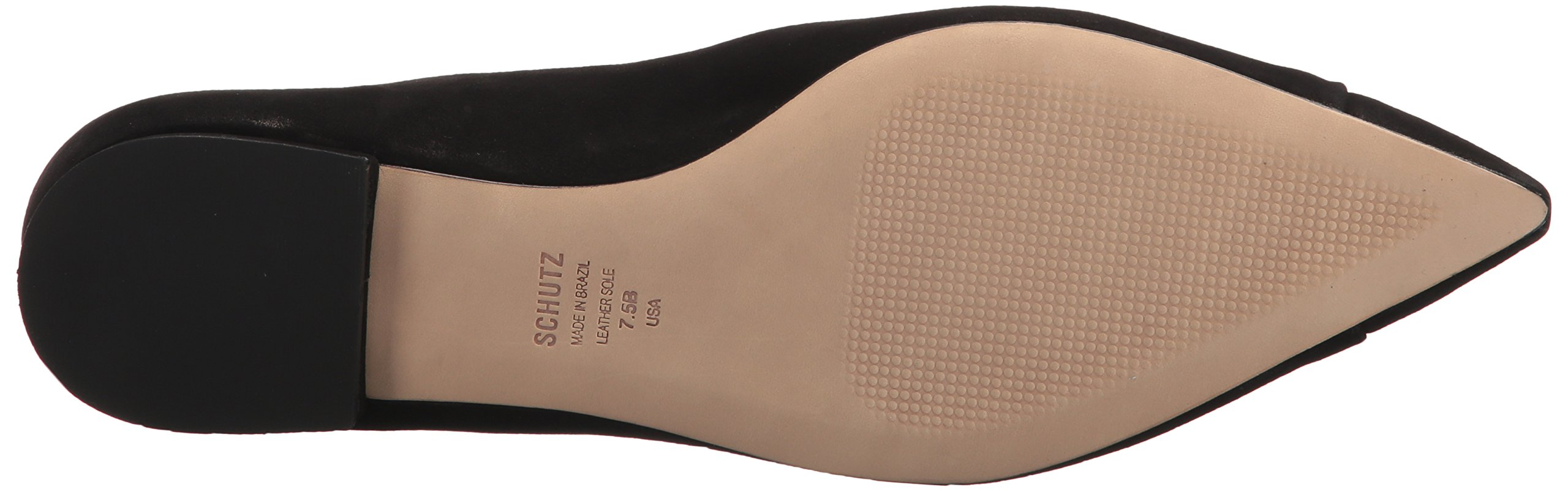SCHUTZ Women's Sasha Ballet Flat, Black, 9.5 M US by SCHUTZ (Image #3)
