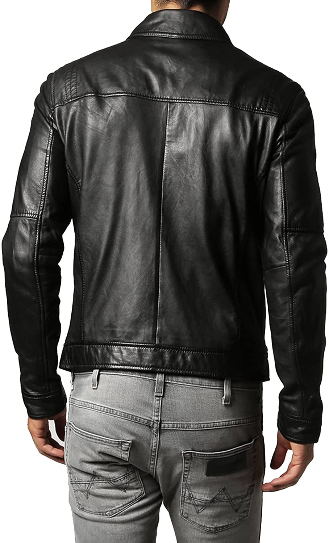 Mens Stylish Lambskin Genuine Leather Jacket 97