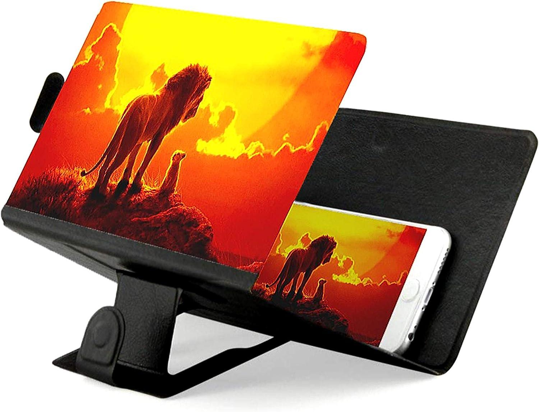 port/átil de 12 Pulgadas con Zoom 3X Soporte de Lupa de Pantalla de tel/éfono Lupa /óptica Lupa de tel/éfono m/óvil para Todos los tel/éfonos Inteligentes Lupa de Pantalla de tel/éfono Blanco