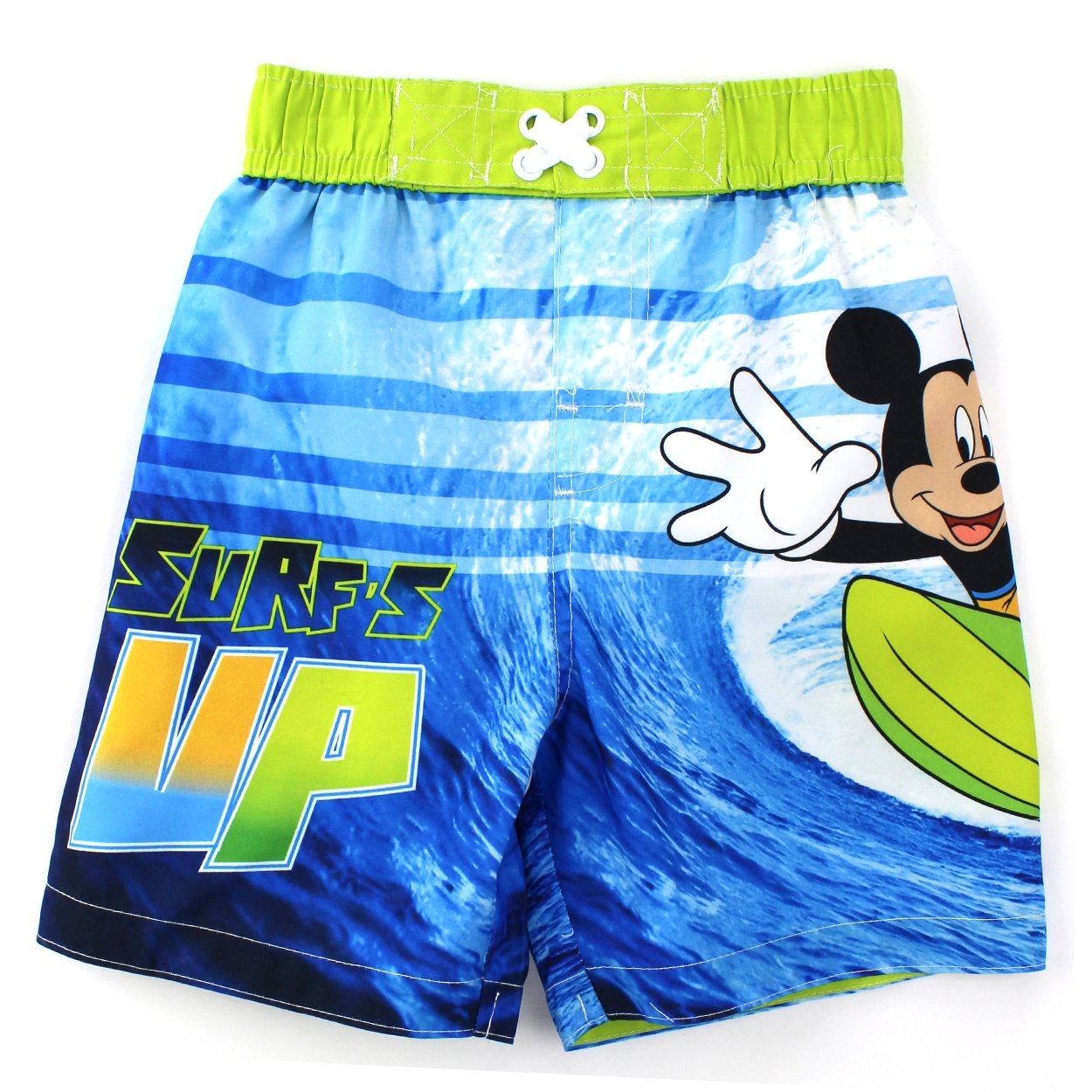 Mickey Mouse Boys Swimwear Blue Swim Trunks