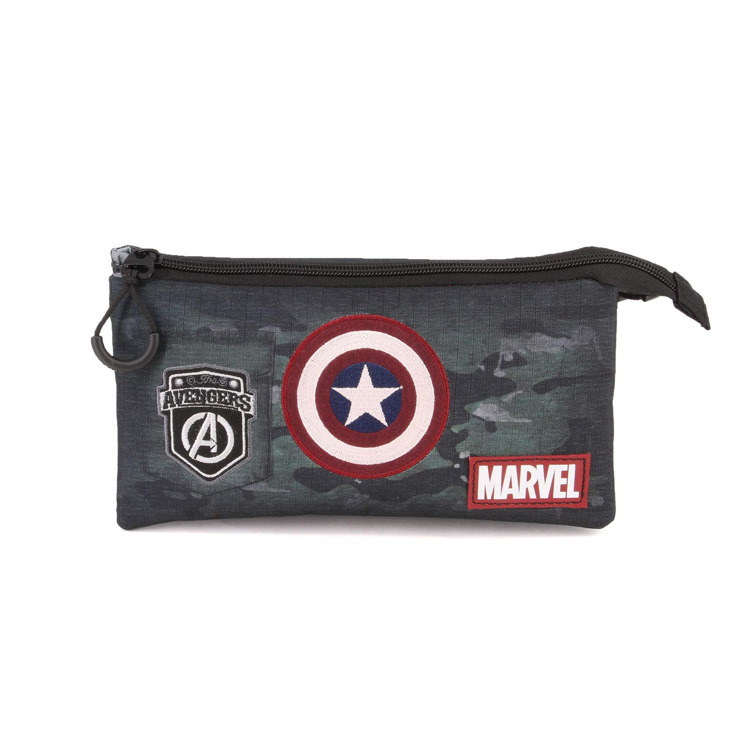 Karactermania Captain America Army-astuccio Portatutto Triplo HS Estuches 24 Centimeters Multicolor (Multicolour)