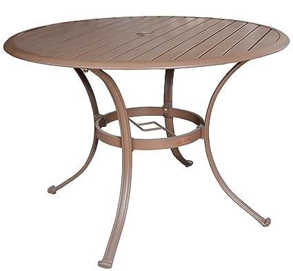 a6c456570d1e Amazon.com   Panama Jack Outdoor PJO-1001-ESP-42 Island Breeze 42-Inch  Slatted Aluminum Round Dining Table
