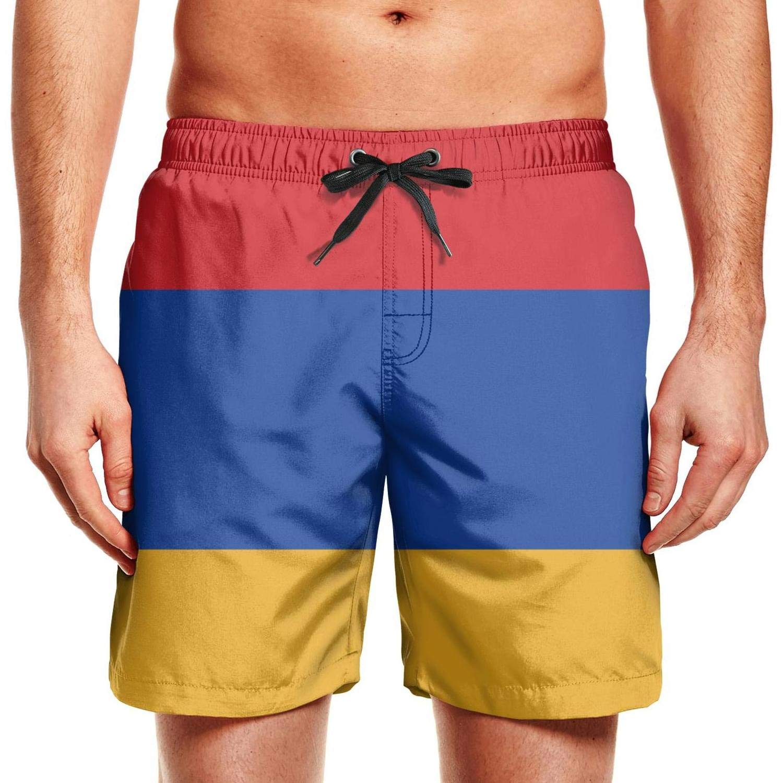 XUWU Mens Surfing Board Shorts Arkansas Gay Flag Swim Trunks with Drawstring