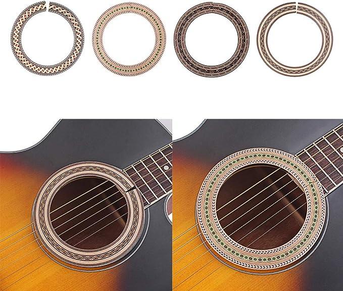 1x Calcomanía de Sonido para Guitarra Acústica Partes de Rosetón ...