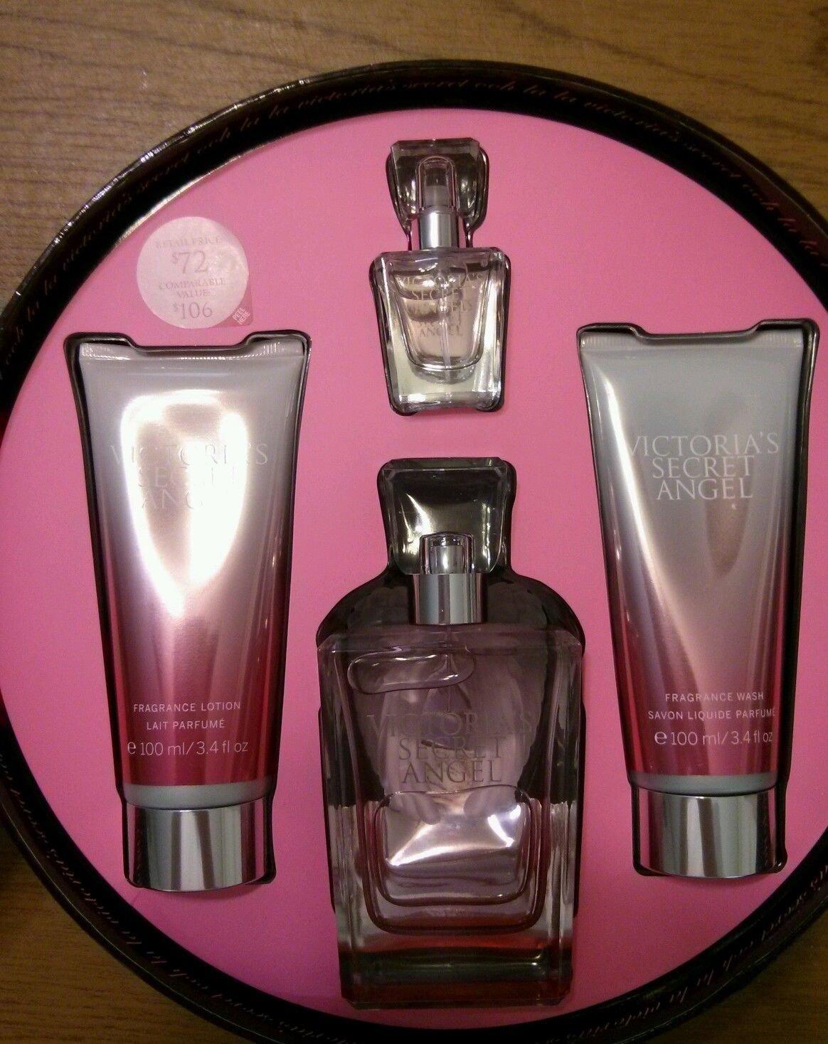 Victorias Secret Angel 4 Pcs Gift Set~eau De Parfum 2.5 Fl Oz,fragrance Lotion 3.4 Fl Oz,fragrance...
