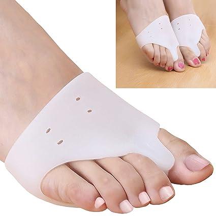 JIAHAO - Separador de dedos de silicona para juanetes, 2 protectores