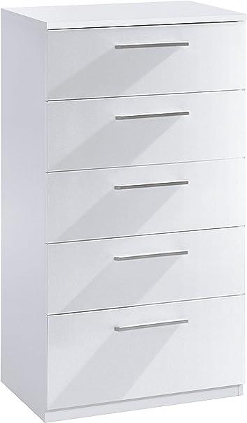 Habitdesign 007825BO - Cómoda chifonier, Color Blanco Brillo ...