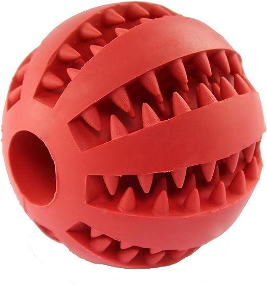 Bola de goma para morder para perros, juguete para limpieza dental ...