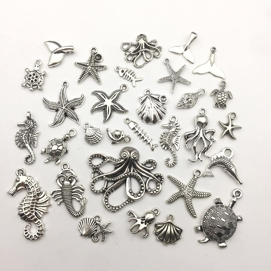 Collection of Nautical and The Sea CharmsPendants