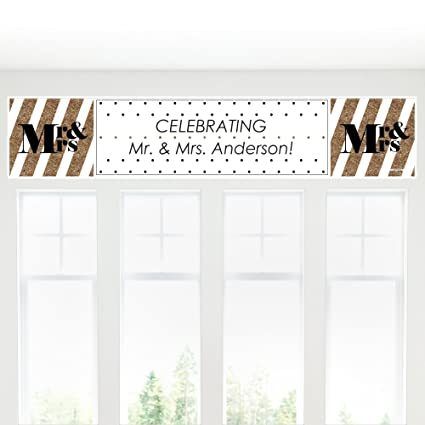 Amazon.com: Custom Mr. & Mrs. – El oro personalizada boda ...