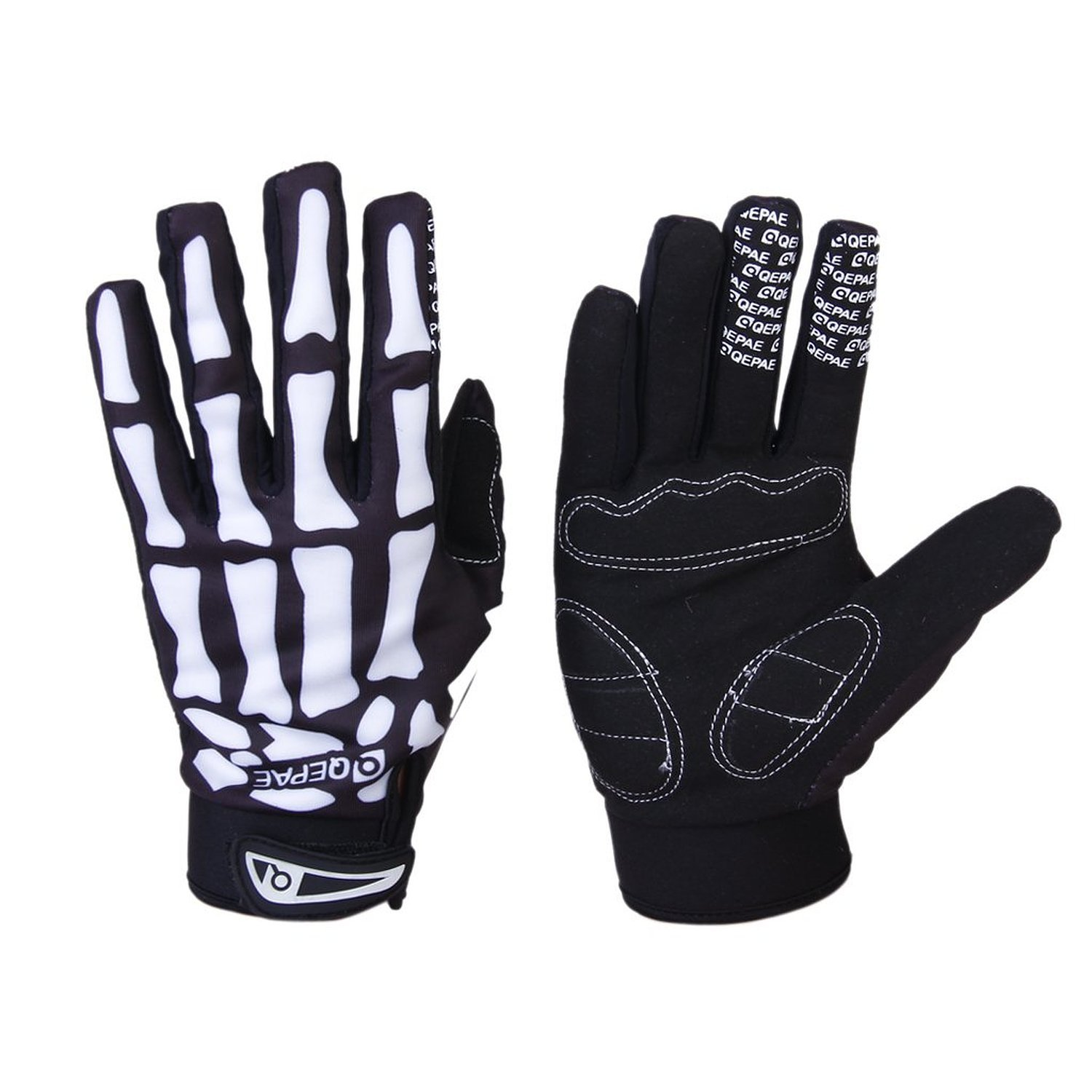 Bicycle Gloves Skeleton Pattern Full Finger Warm Bike