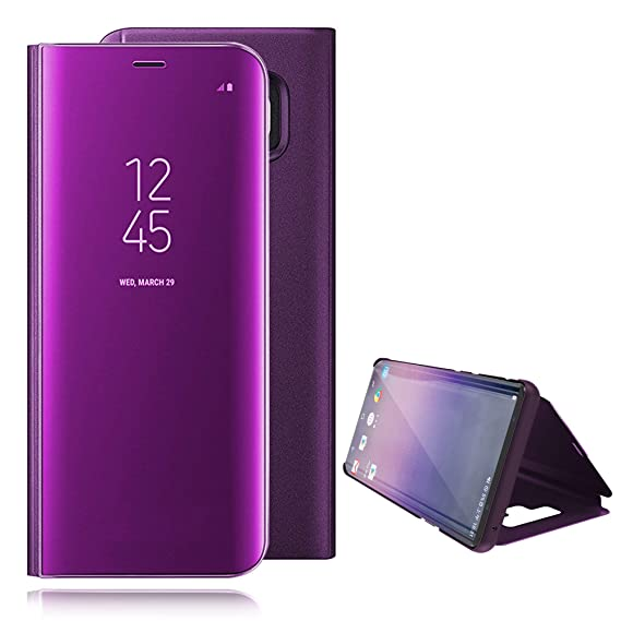 info for e1cb6 be400 Galaxy Note 9 Case Mirror Flip Electroplate Stand Translucent View Window  Hard PC Full Protection Cover for Samsung Galaxy Note9 - PC and PU Leather  ...