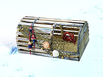 Amazon.com: Decorative Nautical Lobster Trap: Kitchen & Dining