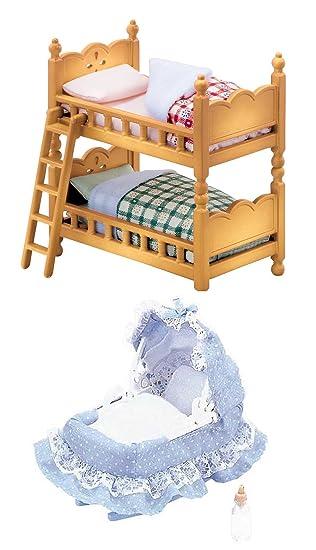 Sylvanian Families Familias doble litera cama y cuna de bebé - 2 ...