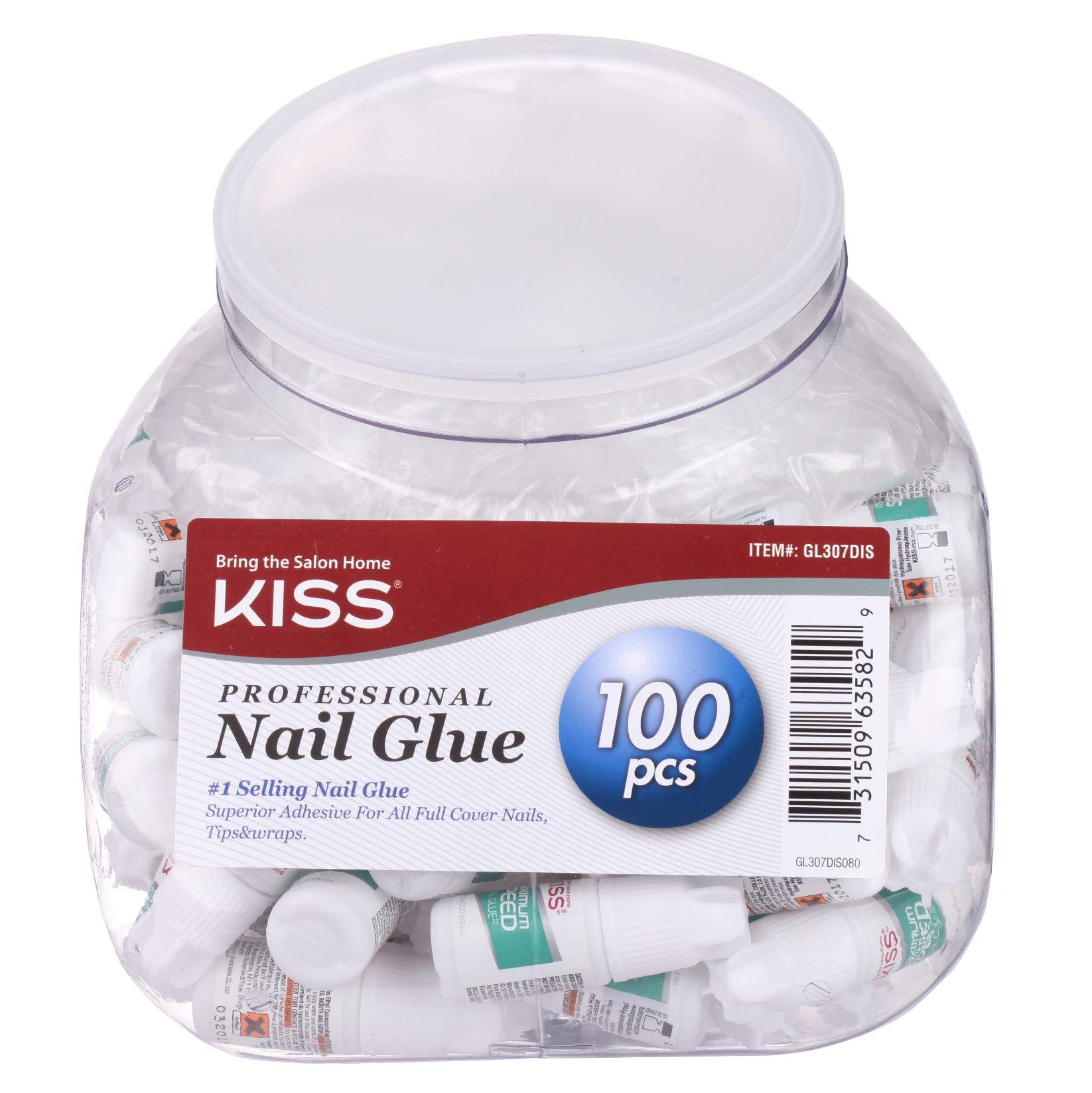 KISS Maximum Speed Nail Glue Set 3g (0.10 oz) - 100 pcs by Kiss