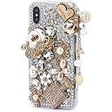 iPhone Xr Shiny Rhinestone Case,iPhone Xr Bling Diamond Case,FreeAir 3D Handmade Crystal Bling Diamonds Shiny Rhinestone…