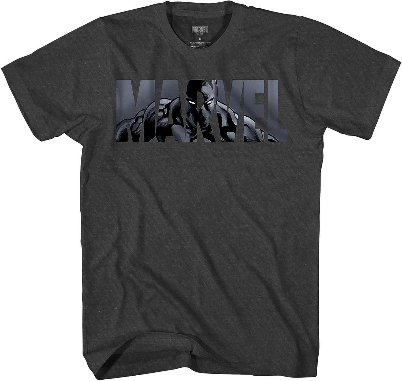 Marvel Logo Black Panther Avengers Super Hero Adult Tee Graphic T-Shirt for Men Tshirt Clothing Apparel