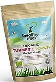 Poudre de Curcuma BIO aux propriétés anti-inflammatoires et anti-oxydantes - Curcuma en poudre pure et naturelle, certifiée par l'Association des sols pour TheHealthyTree Company
