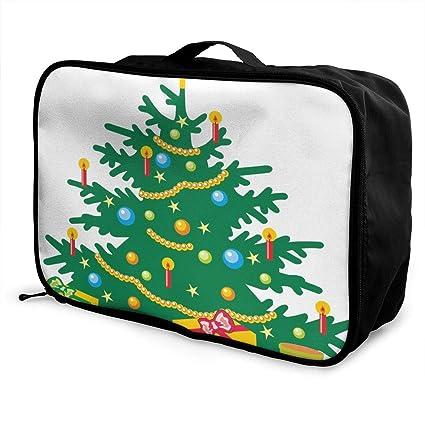 Amazon com   Travel Bags Cartoon Christmas Trees Portable