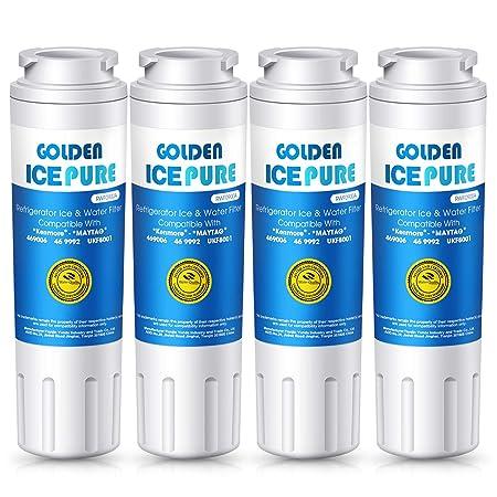 Icepure nevera filtro de agua de repuesto (4pack) Compatible con ...