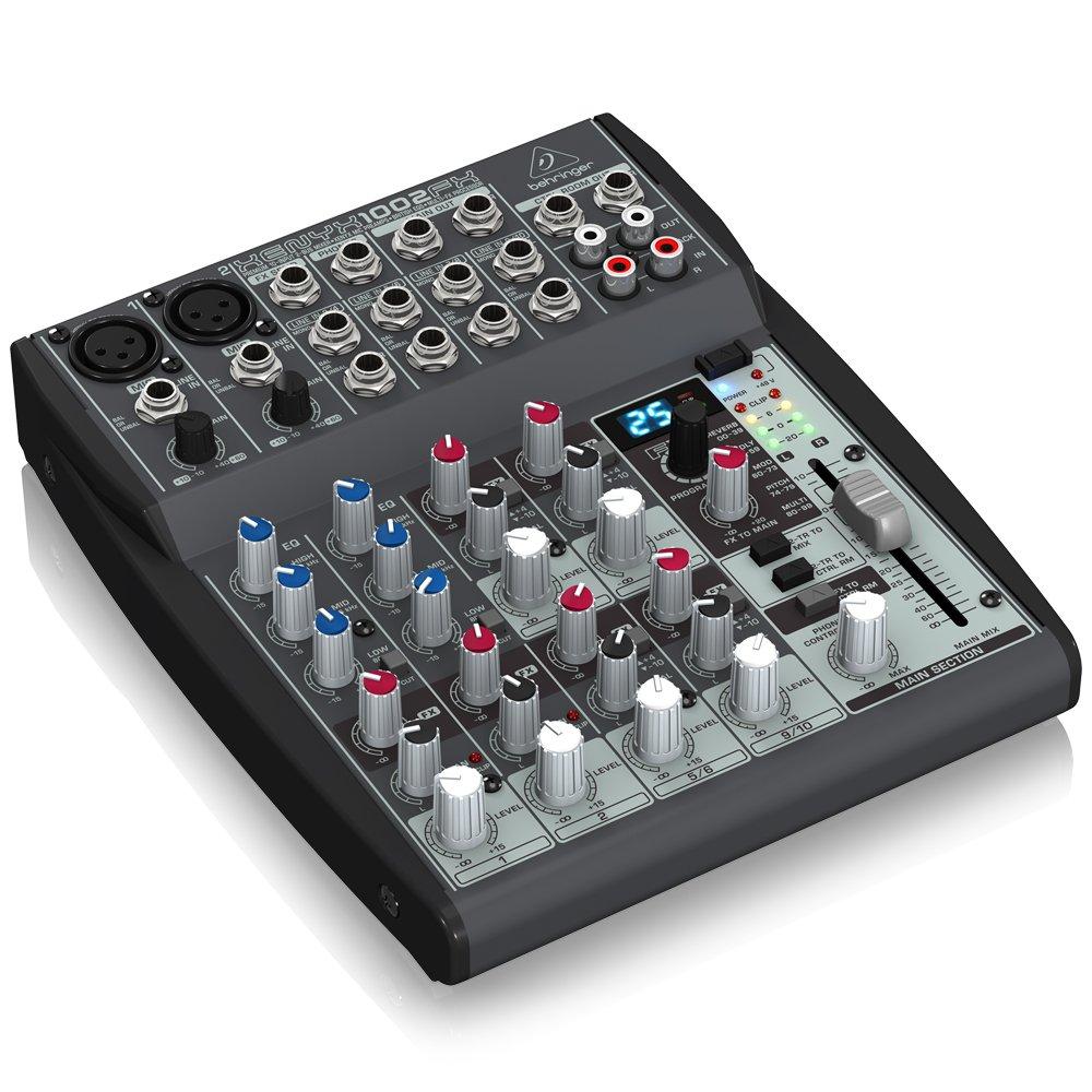 Behringer XENYX 1002FX Table de mixage 10 canaux St/ér/éo FX Processeur 24-bit