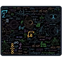 Math Formula Geometry Blackboard Non-Skid Personality Designs Gaming Mouse Pad Black Cloth Rectangle Mousepad Art Natural Rubber Mouse Mat