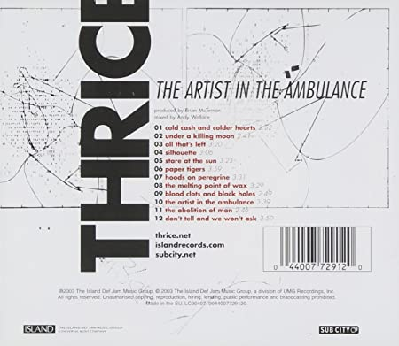 The Artist In The Ambulance Amazon Music