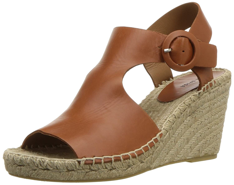 Saddle Leather Via Spiga Womens Nolan Espadrille Wedge Espadrille Wedge Sandal