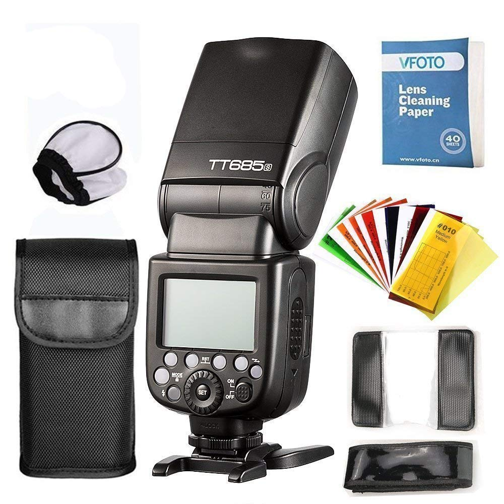 Godox Thinklite TT685S HSS 1 / 8000S GN60 TTLフラッシュスピードライト0.1-2.sソニーDSLRカメラa77II a7RII a7R a58 a99のリサイクル時間   B01FS3LFPC