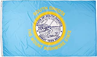 product image for Annin Flagmakers Model 144980 South Dakota Flag Nylon SolarGuard NYL-Glo, 5x8 ft, 100% Made in USA to Official State Design Specifications