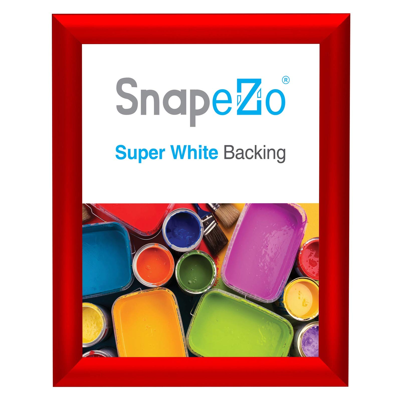 SnapeZo Photo Frame 8x10 Inches, Red 1 Inch Aluminum Profile, Front-Loading Snap Frame, Wall Mounting, Sleek Series by SnapeZo