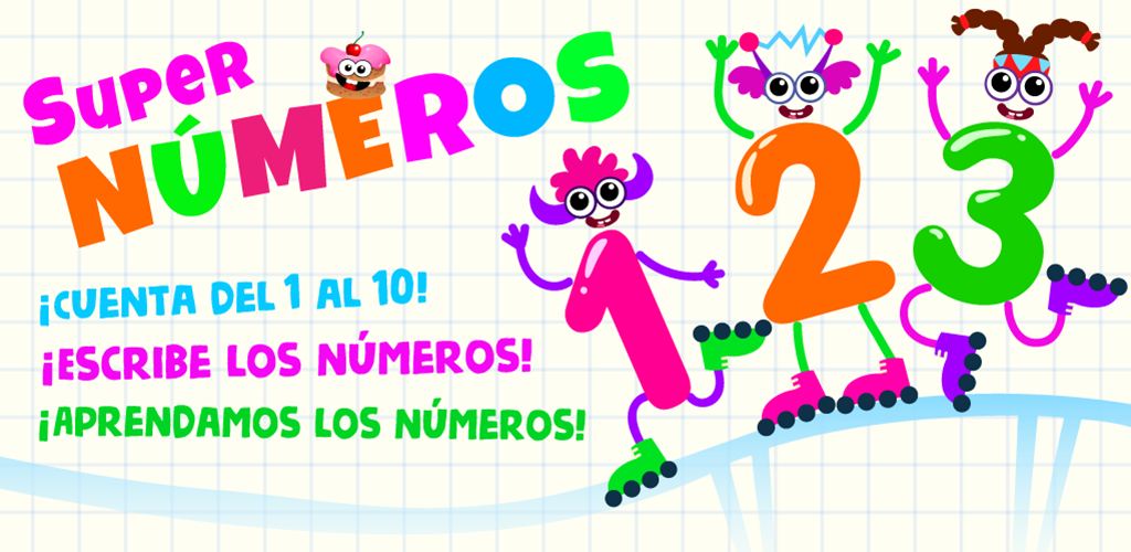 SUPER NUMBERS! Números de Aprendizaje Para Bebés GRATIS