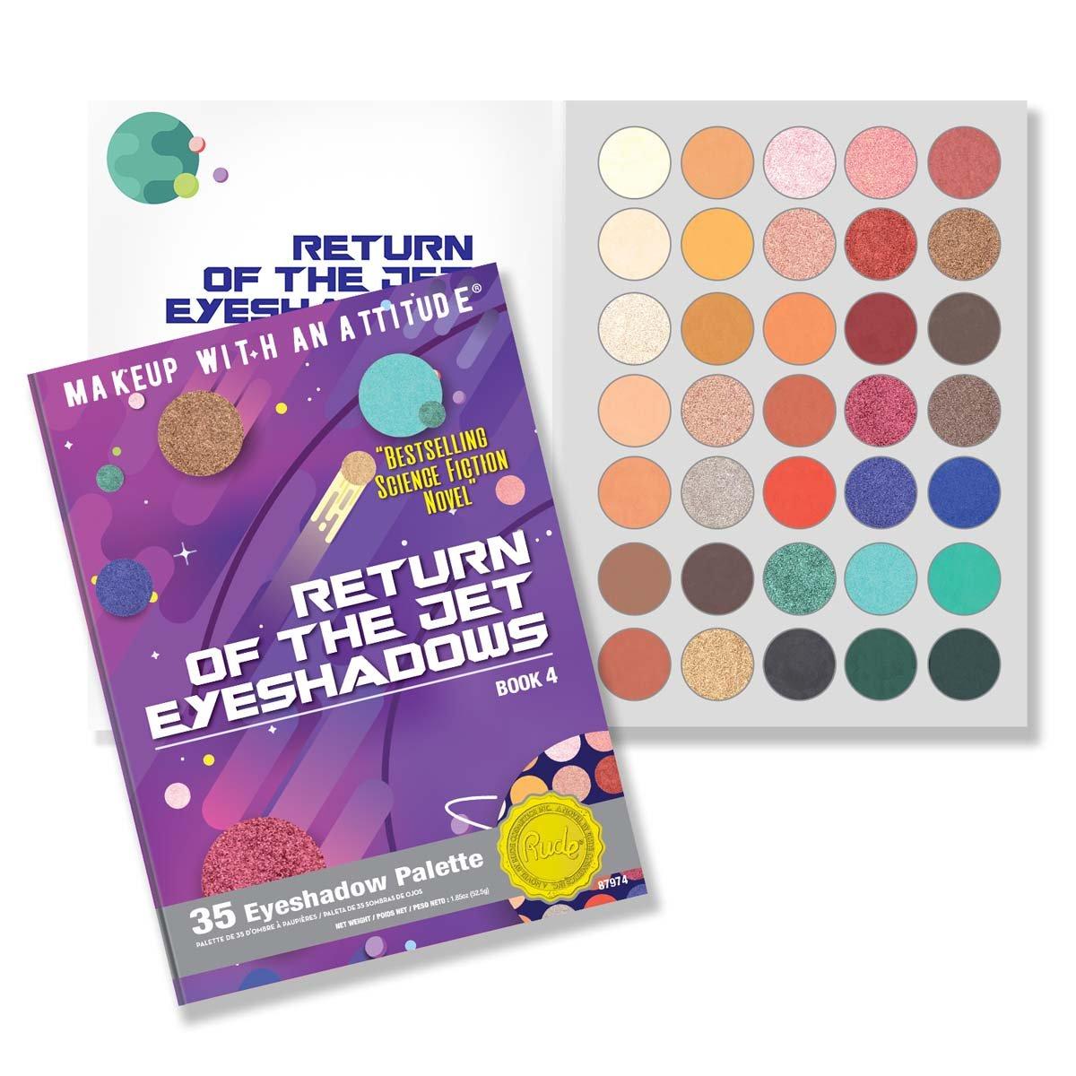 (6 Pack) RUDE Return Of The Jet Eyeshadows 35 Eyeshadow Palette - Book 4 (並行輸入品) B07BP7N6HM