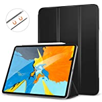 """MoKo Smart Folio Case Fit iPad Pro 11"""" 2018 - [Support Magnetically Attach Charge/Pair] Slim Lightweight Shell Stand Cover, Strong Magnetic Adsorption, Auto Wake/Sleep for iPad Pro 11 Inch - Black"""