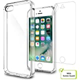 AirPlus Air Case Hard Back With Soft Cushion Case / Cover with Screen Guard For iPhone 5S /SE, Transparent