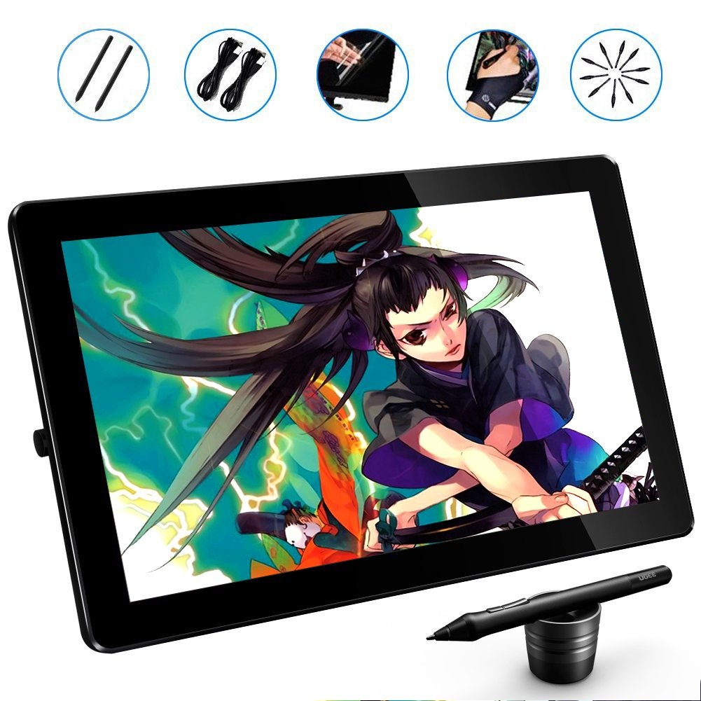PNBOO PN1560 15.6 Inches IPS HD Drawing Monitor Interactive Pen Display with 1 PC Screen Protector, 1 Glove by PNBOO