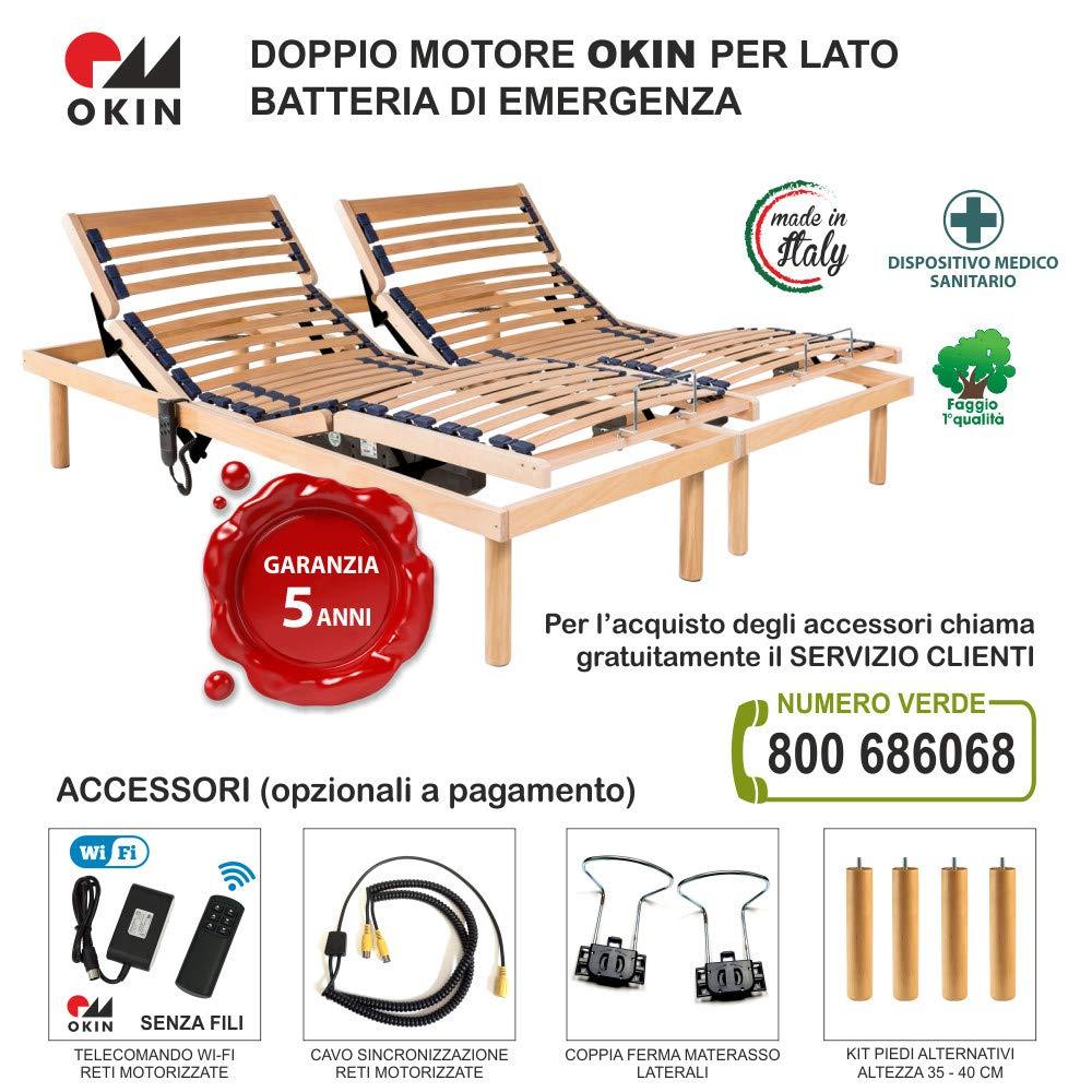 Luxury Line - Rete elettrica motorizzata Matrimoniale (160x190 ...