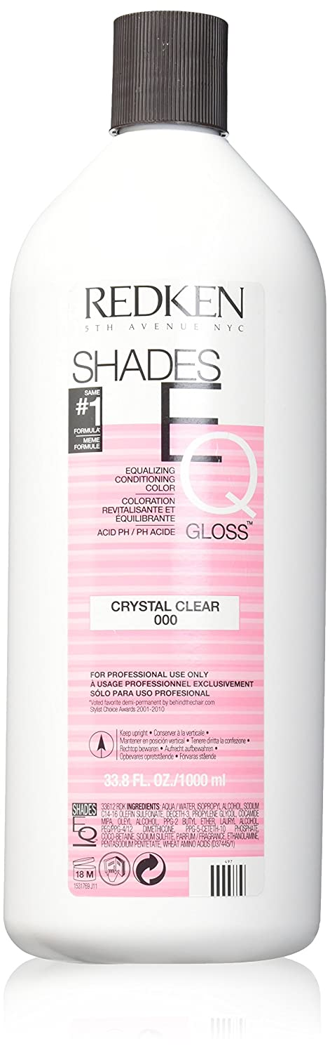 Redken Shades EQ Color Gloss Hair Color for Unisex, 000 Crystal Clear, 33.79 Ounce Red-7988