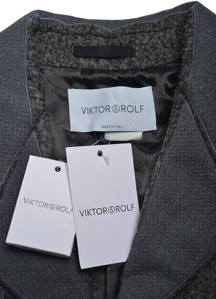 Viktor /& Rolf Womens Black One Button Blazer US L IT 44
