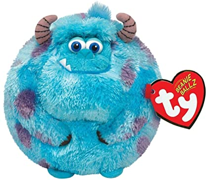 ef92a5a3f70 Amazon.com  TY Beanie Ballz Sulley Blue Monster Plush  Toys   Games