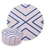 Set of 6 Absorbent Ceramic Stone Coasters for Mugs