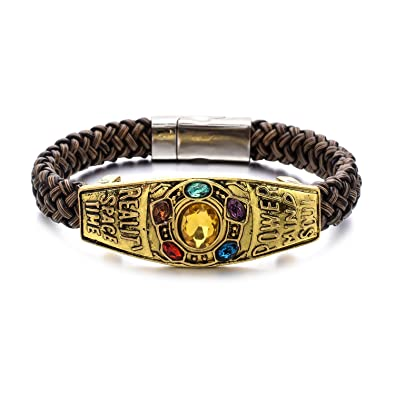 Image Unavailable. Image not available for. Color  Unrend Thanos Infinite  Power Soul Stone Magnet Bracelets Infinity War Cosplay Women Men Charm  Bangles ... 62343f73346e