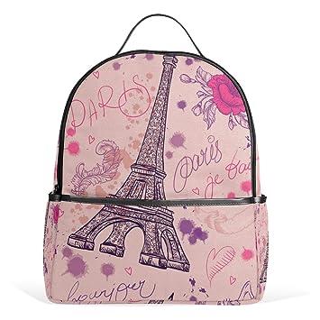 037a9cce9ba7 Amazon.com: TropicalLife Romantic Paris Eiffel Tower Backpacks ...
