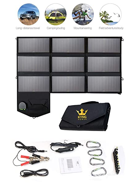 Amazon.com: Kyng Power - Cargador solar portátil de 60 W con ...