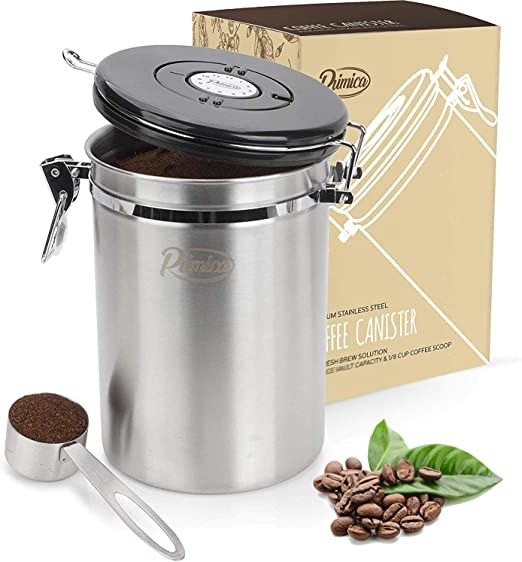 Primica Stainless Steel Coffee Canister
