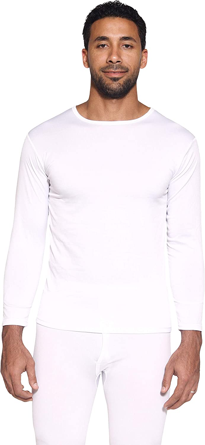Fleece Lined Compression Baselayer Top Underwear Mens Ultra-Soft Long Sleeve Crew Neck Thermal Shirt 1 /& 3 Pack