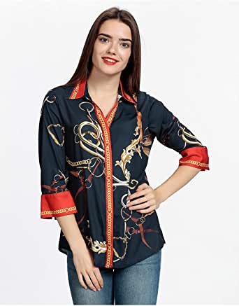PRANDO Shirt for Women, Size 44 EU, Navy